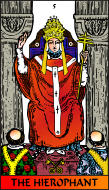 The RWS-Rabbi's Tarot  Hierophant 05gateway