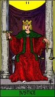The RWS-Rabbi's Tarot  Justice 11gateway