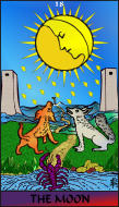 The RWS-Rabbi's Tarot  Moon 18gateway