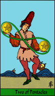 The RWS-Rabbi's Tarot  Two Pentacles p02gateway