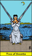The RWS-Rabbi's Tarot  Two Swords s02gateway
