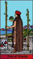 The RWS-Rabbi's Tarot Two Wands w02gateway