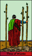 The RWS-Rabbi's Tarot Three Wands w03gateway