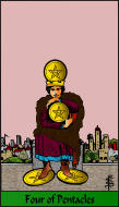 The RWS-Rabbi's Tarot  Four Pentacles p04gateway