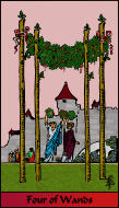 The RWS-Rabbi's Tarot Four Wands w04gateway