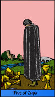 The RWS-Rabbi's Tarot  Five Cups c05gateway