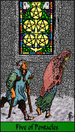 The RWS-Rabbi's Tarot  Five Pentacles p05gateway