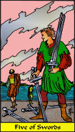 The RWS-Rabbi's Tarot  Five Swords s05gateway