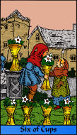 The RWS-Rabbi's Tarot  Six Cups c06gateway