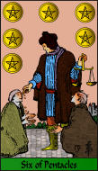 The RWS-Rabbi's Tarot  Six Pentacles p06gateway