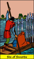 The RWS-Rabbi's Tarot  Six Swords s06gateway