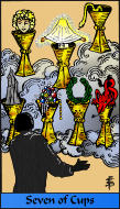 The RWS-Rabbi's Tarot  Seven Cups c07gateway
