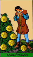 The RWS-Rabbi's Tarot  Seven Pentacles p07gateway