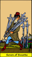 The RWS-Rabbi's Tarot  Seven Swords s07gateway