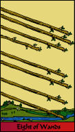 The RWS-Rabbi's Tarot Eight Wands w08gateway