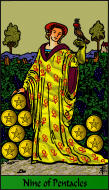 The RWS-Rabbi's Tarot  Nine Pentacles p09gateway