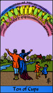 The RWS-Rabbi's Tarot  Ten Cups c10gateway