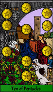 The RWS-Rabbi's Tarot  Ten Pentacles p09gateway