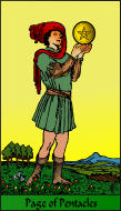 The RWS-Rabbi's Tarot  Page Pentacles p11gateway