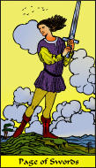 The RWS-Rabbi's Tarot  Page Swords s11gateway