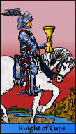 The RWS-Rabbi's Tarot  Knight Cups c12gateway