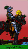 The RWS-Rabbi's Tarot  Knight Pentacles p12gateway