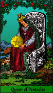 The RWS-Rabbi's Tarot  Queen Pentacles p13gateway