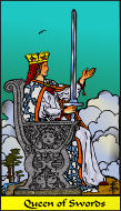 The RWS-Rabbi's Tarot  Queen Swords s13gateway