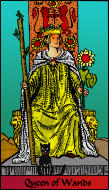 The RWS-Rabbi's Tarot Queen Wands w13gateway